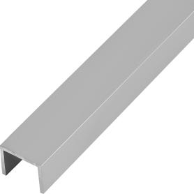 Швеллер алюминиевый 20х25х20х2 мм, 2 м, цвет серебро