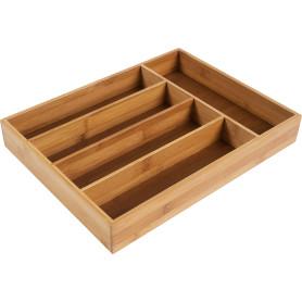 Лоток для столовых приборов 5 отделений 36х27х5см, бамбук
