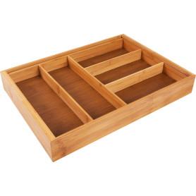 Лоток для столовых приборов раздвижной 33х6.5х46 см, бамбук