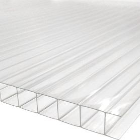 Поликарбонат сотовый 10 мм 2.1x3 м прозрачный