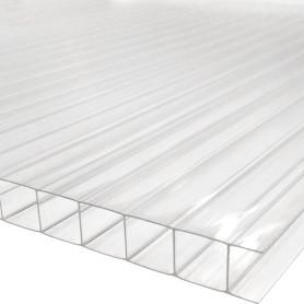 Поликарбонат сотовый 10 мм 2.1х3 м цвет прозрачный
