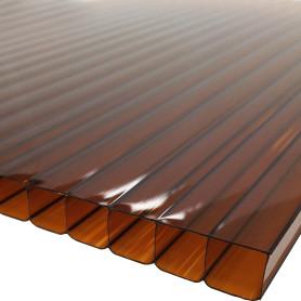 Поликарбонат сотовый 10 мм 2.1x3 м коричневый