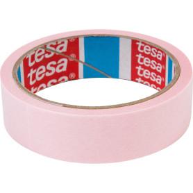 Лента малярная розовая Tesa, 25 мм x 25 м
