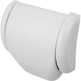 Держатель для туалетной бумаги «Prime» с крышкой цвет белый