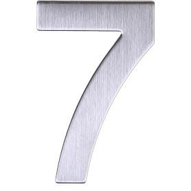 Цифра «7» самоклеящаяся 95х62 мм нержавеющая сталь цвет серебро