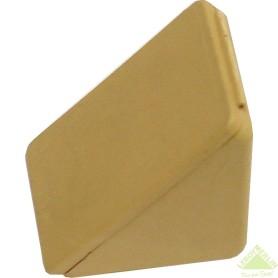 Комплект уголка монтажного с шурупами цвет светло-коричневый, 10 шт.
