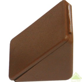 Комплект уголка монтажного с шурупами цвет тёмно-коричневый, 10 шт.