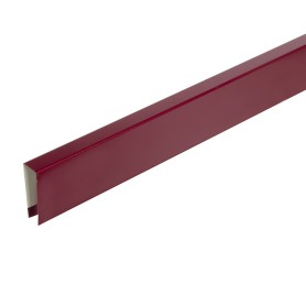 П-планка для профнастила С8 цвет вишневый