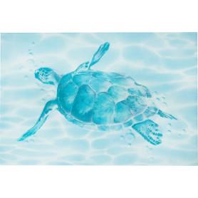 Декор «Лагуна Черепаха» 24.9х36.4 см цвет голубой