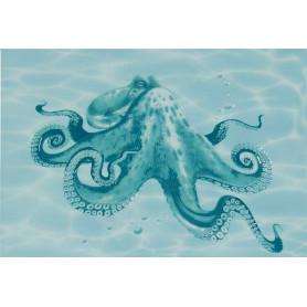 Декор «Лагуна Осьминог» 24.9х36.4 см цвет голубой
