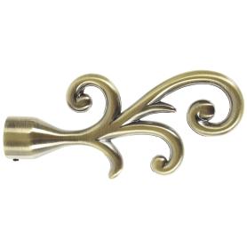 Наконечник «Завитки» 12 см цвет золото антик