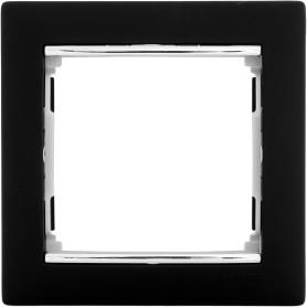 Рамка для розеток и выключателей Legrand Valena 1 пост, цвет ноктюрн/серебряный штрих
