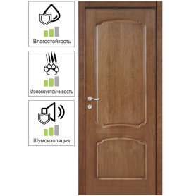 Дверь межкомнатная глухая Helly 60x200 см, шпон, цвет тонированный дуб