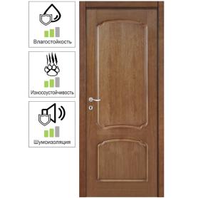 Дверь межкомнатная глухая Helly 90x200 см, шпон, цвет тонированный дуб