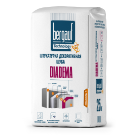Штукатурка цементная декоративная Bergauf Diadema шуба 2.5-3.0 25 кг