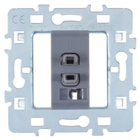 Выключатель проходной встраиваемый Lexman Cosy 1 клавиша, цвет серый
