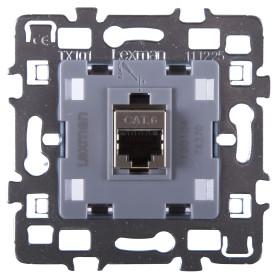 Телефонная розетка встраиваемая Lexman Cosy RJ11, цвет серый