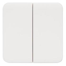 Накладка для выключателя/переключателя Lexman Cosy 2 клавиши, цвет белый