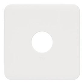 Накладка для ТВ-розетки Lexman Cosy, цвет белый