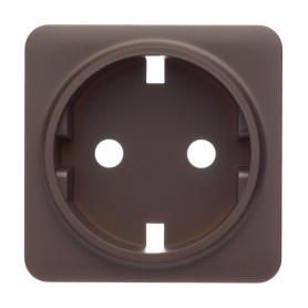 Накладка для розетки с заземлением Lexman Cosy, цвет шоколадный