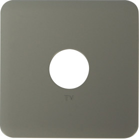 Накладка для ТВ-розетки Lexman Cosy, цвет серый