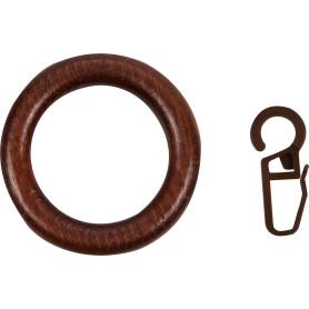 Кольцо с крючком цвет темная вишня