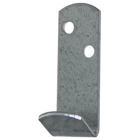 Крючок для одежды Петротех, 55x20x20 мм, оцинкованный, сталь, цвет хром, 4 шт.
