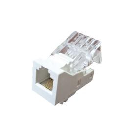 Телефонная розетка встраиваемая LK Studio LK45 RJ11, цвет белый
