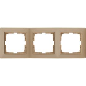 Рамка для розеток и выключателей ABB Basic55 3 поста, цвет бежевый