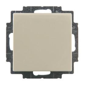 Розетка встраиваемая ABB Basic 55 с заземлением, с крышкой, цвет бежевый