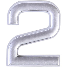 Цифра «2» самоклеящаяся 40х32 мм пластик цвет матовое серебро