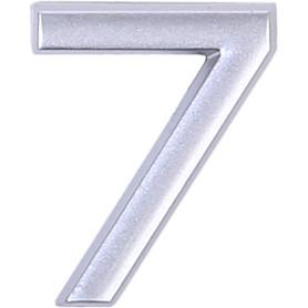 Цифра «7» самоклеящаяся 40х32 мм пластик цвет матовое серебро