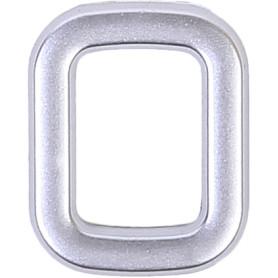 Цифра «0» самоклеящаяся 40х32 мм пластик цвет матовое серебро