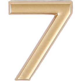 Цифра «7» самоклеящаяся 40х32 мм пластик цвет матовое золото