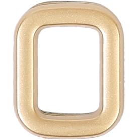 Цифра «0» самоклеящаяся 40х32 мм пластик цвет матовое золото