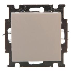 Выключатель проходной встраиваемый ABB Basic 55 1 клавиша, цвет белый