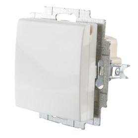 Розетка встраиваемая ABB Basic 55 с заземлением, с крышкой, цвет белый