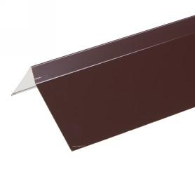 Планка ветровая для мягкой кровли, покрытие п/э цвет коричневый