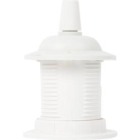 Патрон пластиковый Е27 для подвесных светильников цвет белый