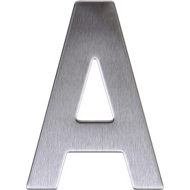 Буква «А» самоклеящаяся 95х62 мм нержавеющая сталь цвет серебро