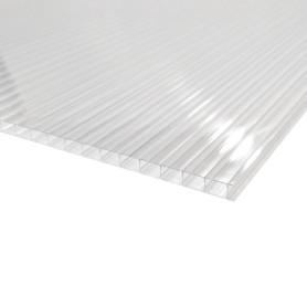 Поликарбонат сотовый 3.5 мм 2.1х3 м цвет прозрачный