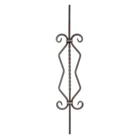 Балясина ромб 15х900х230 мм, сталь