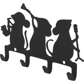 Крючок четырёхрожковый DuckandDog «Оркестр», сталь, матовый чёрный