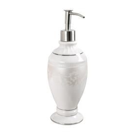 Дозатор для жидкого мыла настольный Wess «Elegance» керамика цвет белый