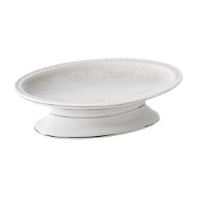 Мыльница настольная Wess «Elegance» керамика цвет белый