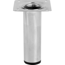 Опора сталь, хром, круглая, высота 100 мм, d30 мм