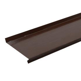 Отлив 160x2000 мм цвет коричневый