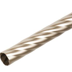 Штанга витая 240 см цвет матовая сталь
