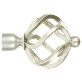 Наконечник «Глобус» 9.5 см цвет матовая сталь