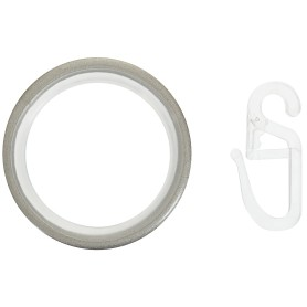 Кольцо с крючком 3.5 см матовая сталь